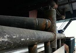 江河公司为彭庄煤矿提供耐磨管焊接技术服务