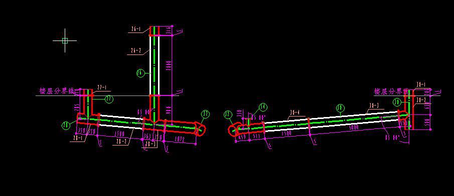 具体可以形成轴侧图方法绘制的管道单线图,准确表明每段管子的规格