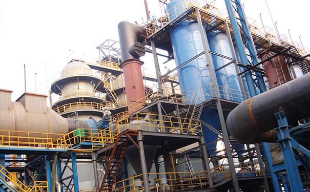 越南沿海一期火力发电厂-煤粉管道双金属耐磨管道